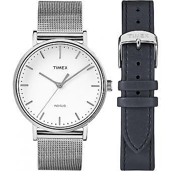 Zegarek Timex TWG016700UK - zegarek stal pieniądze e człowiek