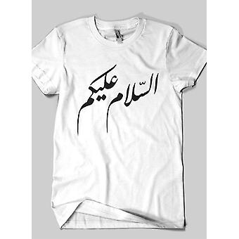 Assalam o alaykum islamiske halv ærmer t-shirt