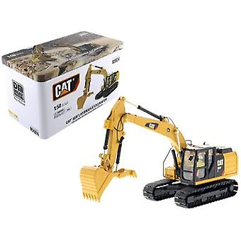 CAT Caterpillar 323F L Hydraulic Excavator with Thumb and Operator High Line Series 1/50 Diecast Model par Diecast Masters
