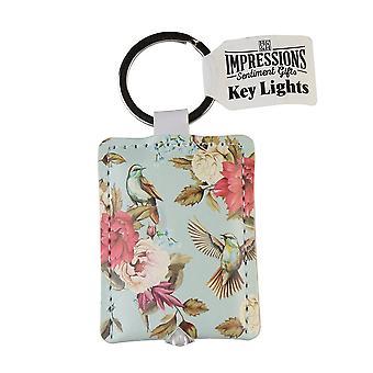 History & Heraldry Keyring - Birds And Flowers Key Light