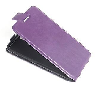 Für iPhone SE (2020), 8 & 7 Fall, modish vertikale Flip langlebige Schutzleder-Abdeckung, lila