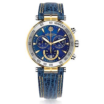Michel Herbelin 37654-T35 Men's Newport Originals Chronograph Blue Strap Wristwatch