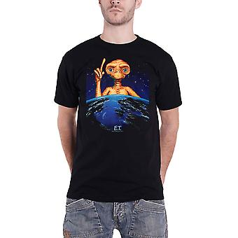 E.T T Shirt Pointing Up Movie Logo new Official Mens Black