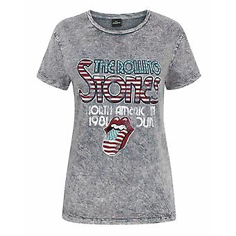 The Rolling Stones Women's Acid Wash T-Shirt