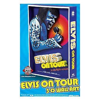 Elvis Presley Elvis On Tour 3D Poster