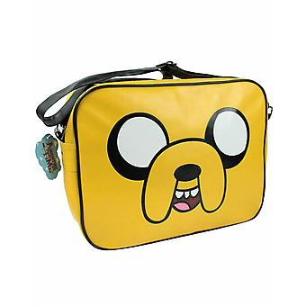 Kids Character Yellow Faux Leather Shoulder Strap Messenger Bag