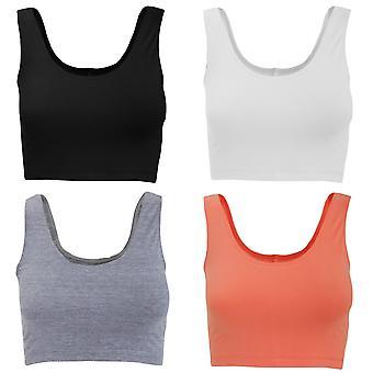 American Apparel das mulheres/senhoras sem mangas de algodão do Spandex Crop Top