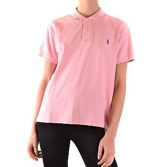 Ralph Lauren Ezbc037205 Dames's Pink Cotton Polo Shirt