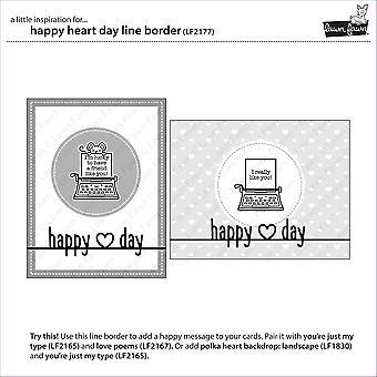 Lawn Fawn Happy Heart Day Line Border stirbt