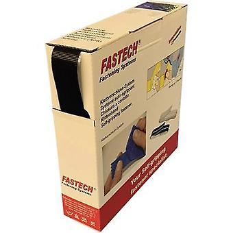 FASTECH® B25-ETN32HM9910 Gancho-e-laço fita stick-on (adesivo de derretimento quente) Micro ganchos (L x W) 10 m x 25 mm Preto 10 m