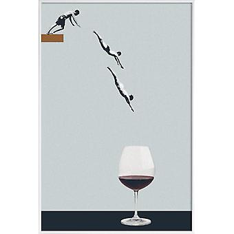 JUNIQE Print - Your Best Friends Forget You Get Old - Wine Poster in Grey