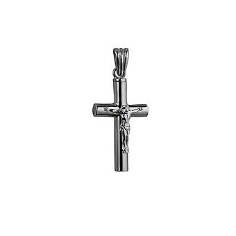32x18x4mm artesanal Memorial Cruz crucifixo de prata