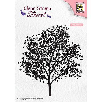 نيلي & أبوس؛s اختيار Clearstamp - شجرة صورة ظلية SIL063 78x84mm (02-20)