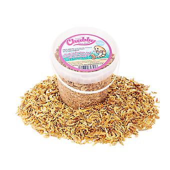 1 litre chubby dried river shrimp