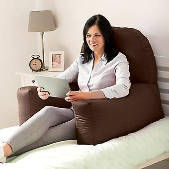 Sofas wechseln | Baumwolle Twill 'Chloe' Bean Bag Back Rest Lesen Kissen (Schokolade)