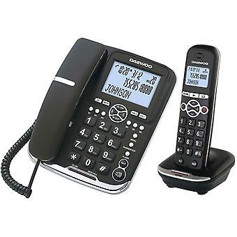 Wireless Phone Daewoo DTD5500 DECT LCD LED COMBO