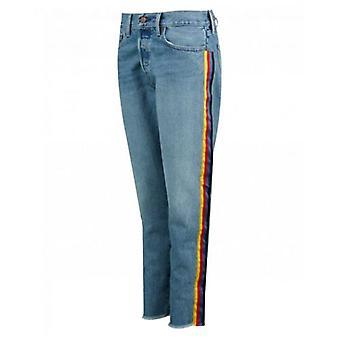 Polo Ralph Lauren Rainbow randig pojkvän jeans