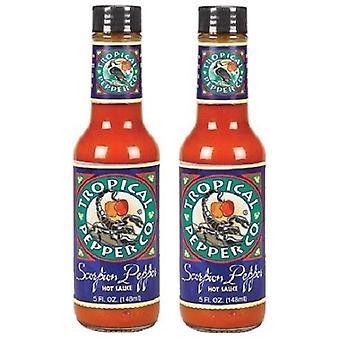 Tropische Pfeffer Co. Scorpion Pfeffer Tabasco 2 Flasche Pack