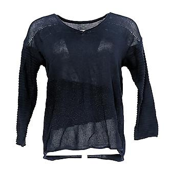 Laurie Felt Women's Sweater 3/4-Sleeve V-Neck w/ Camisole Blue A309558