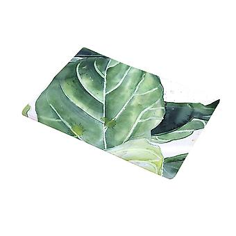 Flannel Green Plant Door Mats