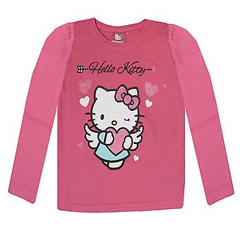 Hello kitty girls t-shirt long sleve glitter