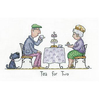 Heritage Crafts Cross Stitch Kit - Tea For Two