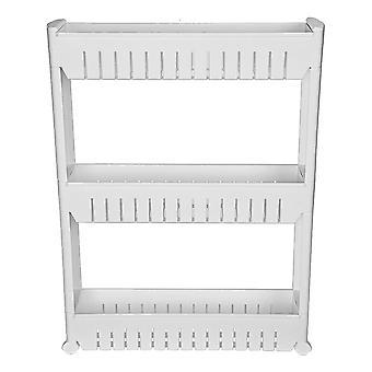 Modern Home Narrow Sliding Storage Organizer Rack - lavandería / baño / cocina estantes de almacenamiento portátiles