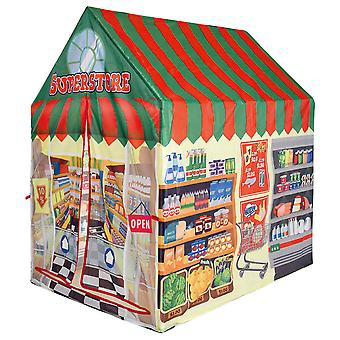 Charles Bentley Supermarket/Shopping Food Store Play Tent Wendy House Playhouse Den