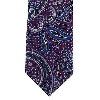 Michelsons of London Luxurious Paisley Polyester Tie - Magenta Pink