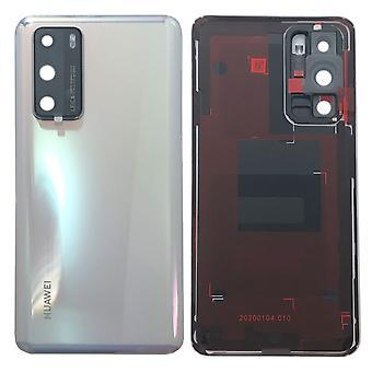 Huawei akku kansi akku kansi valkoinen / jää valkoinen P40 02353MGE korjaus uusi