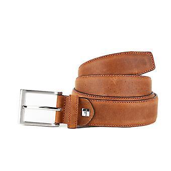 Cognac Colored Formal Men's Belt