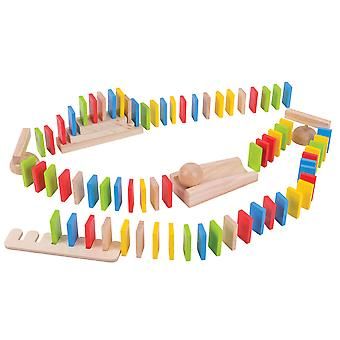 Bigjigs Toys Wooden Domino Run Toy Traditional Rally Game