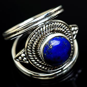 Lapis Lazuli Ring Size 7.25 (925 Sterling Silver)  - Handmade Boho Vintage Jewelry RING7991