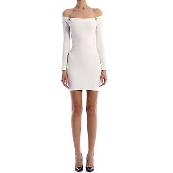 Balmain Tf06249k0630fa Women-apos;s White Viscose Dress