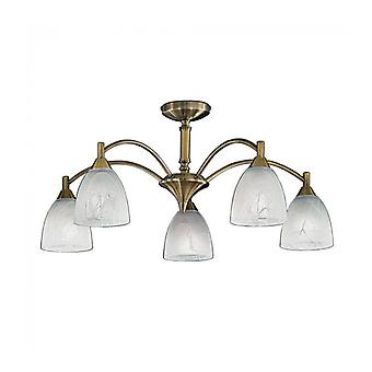 Bronze Ceiling Lamp Emmy 5 Bulbs