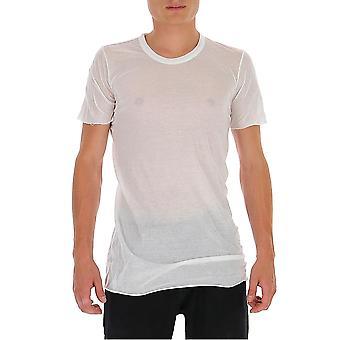 Rick Owens Ru20f3251uc110 Men's White Cotton T-shirt