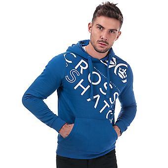 Men's Crosshatch Black Label Lapout Logo Hoody in Blue