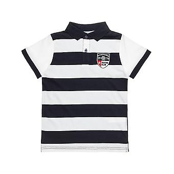 Alouette Boys' Polo Striped Shirt With Embroidery