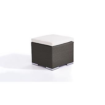 Polyrattan Cube Tabouret 50 cm - anthracite