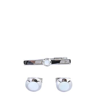 Boss 5042832510225750100 Men's White Brass Cuff Links