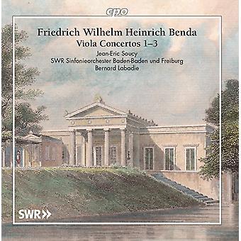 Benda / Soucy - Viola Concertos [CD] USA import