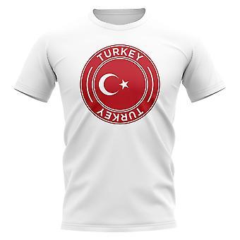 Turkey Football Badge T-Shirt (White)