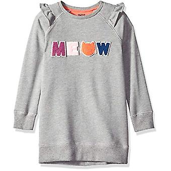 Brand - Spotted Zebra Girls' Big Kid French Terry Knit Ruffle Raglan D...