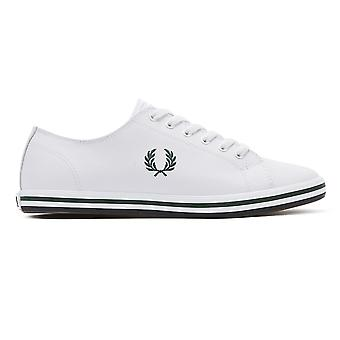 Fred Perry Kingston Mens vit/Ivy läder utbildare