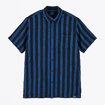 Scotch & Soda  - Striped Short Sleeve Shirt - Blue/Black