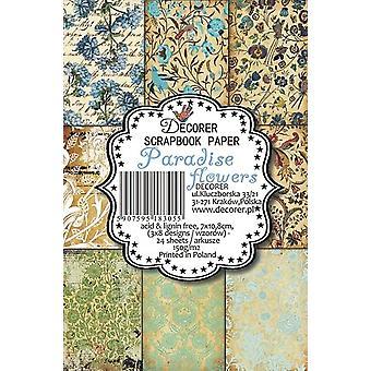 Decorer Paradise Flowers Paper Pack (7x10.8cm) (M10)