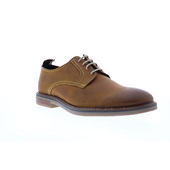 Ben Sherman Birk Cap Toe  Mens Brown Leather Plain Toe Oxfords Shoes