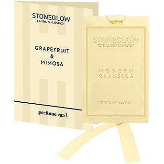 Stoneglow Modern Classics Perfume Card - Grapefruit & Mimosa