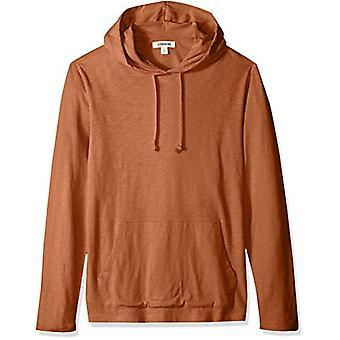 Goodthreads Men's Lightweight Slub T-Shirt Hoodie, rouille, Large