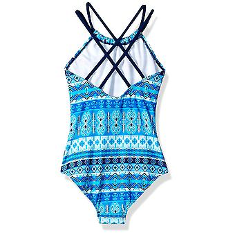 Kanu Surf Big Girls' Jasmine Beach Sport Halter One Piece Swimsuit, Mahina Bl...